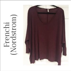 NWOT Maroon Frenchi Tunic From Nordstrom
